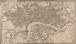 A new plan of London and Westminster, with the borough of Southwark. 1827